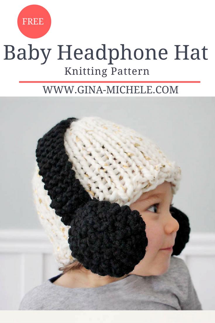 Baby Headphone Hat [knitting pattern | Pinterest | Gorro tejido ...