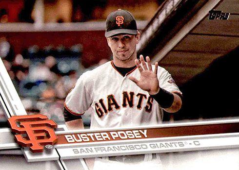 Buster Posey Sp 2017 Topps Series 2 Baseball Variation Short