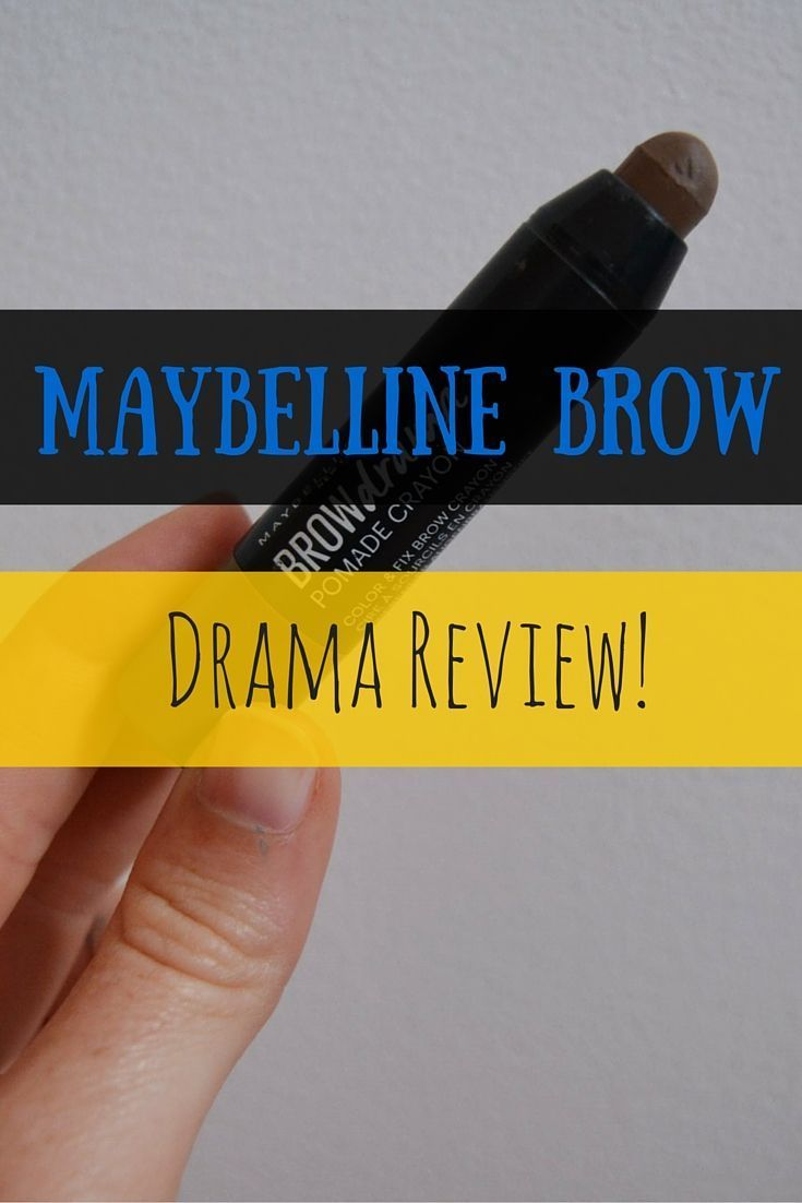 The Brow Drama Crayon is an eyebrow crayon. It's really chubby (as you can see by the pictures) and is meant to fill in sparse areas of your brows and keep stray hairs in place and I decided to review this controversial little eyebrow crayon! #pictureplacemeant The Brow Drama Crayon is an eyebrow crayon. It's really chubby (as you can see by the pictures) and is meant to fill in sparse areas of your brows and keep stray hairs in place and I decided to review this controversial little eyebrow #pictureplacemeant