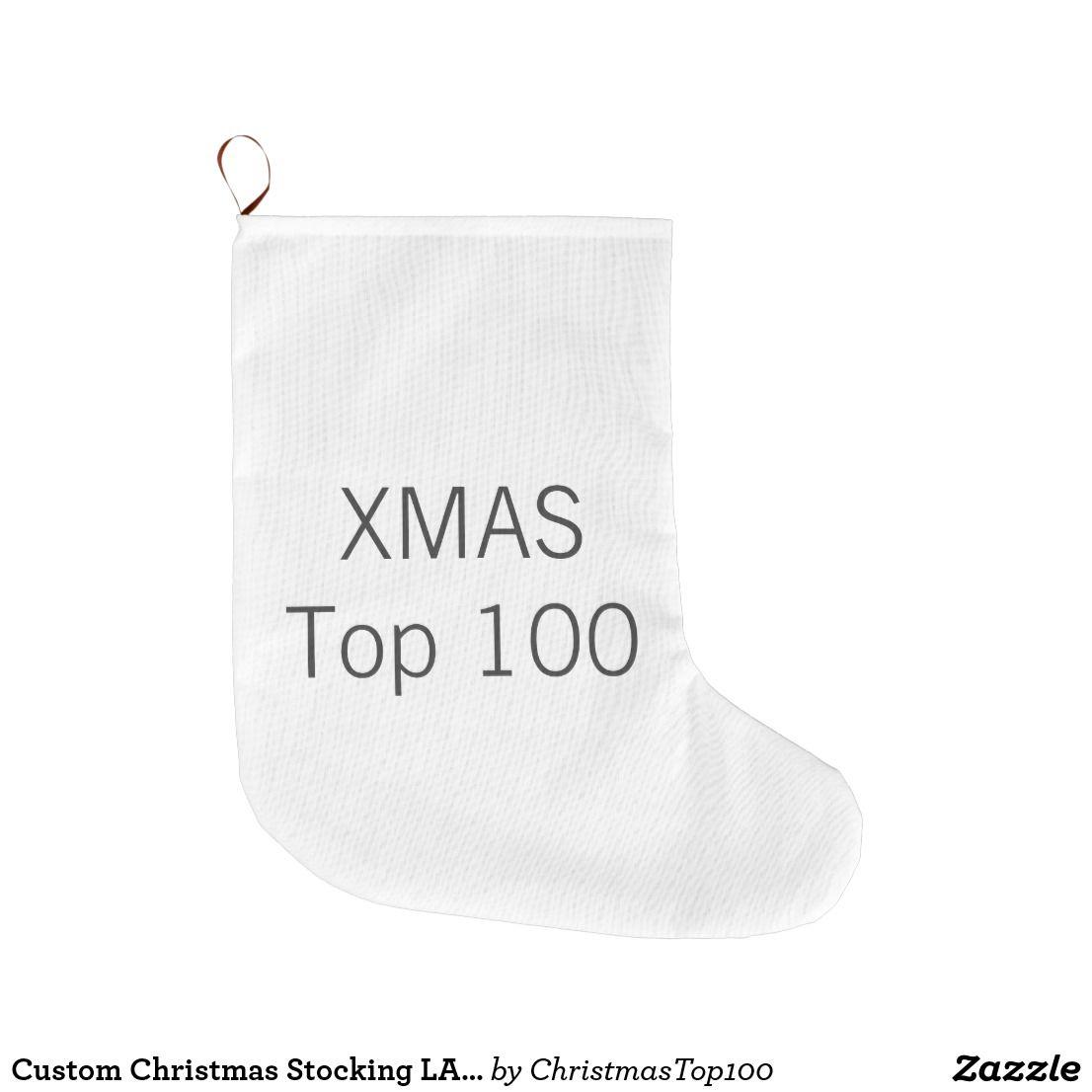 Custom Christmas Stocking LARGE 1-sided Print | Custom ...