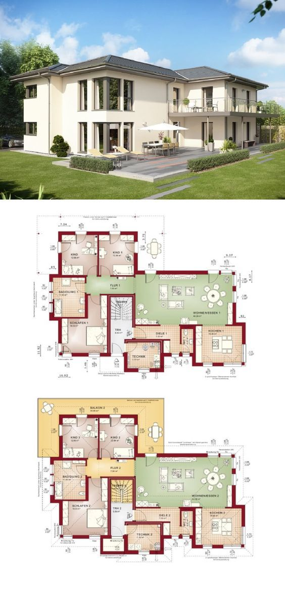 Zweifamilienhaus mit Walmdach und Einliegerwohnung bauen - Haus ...