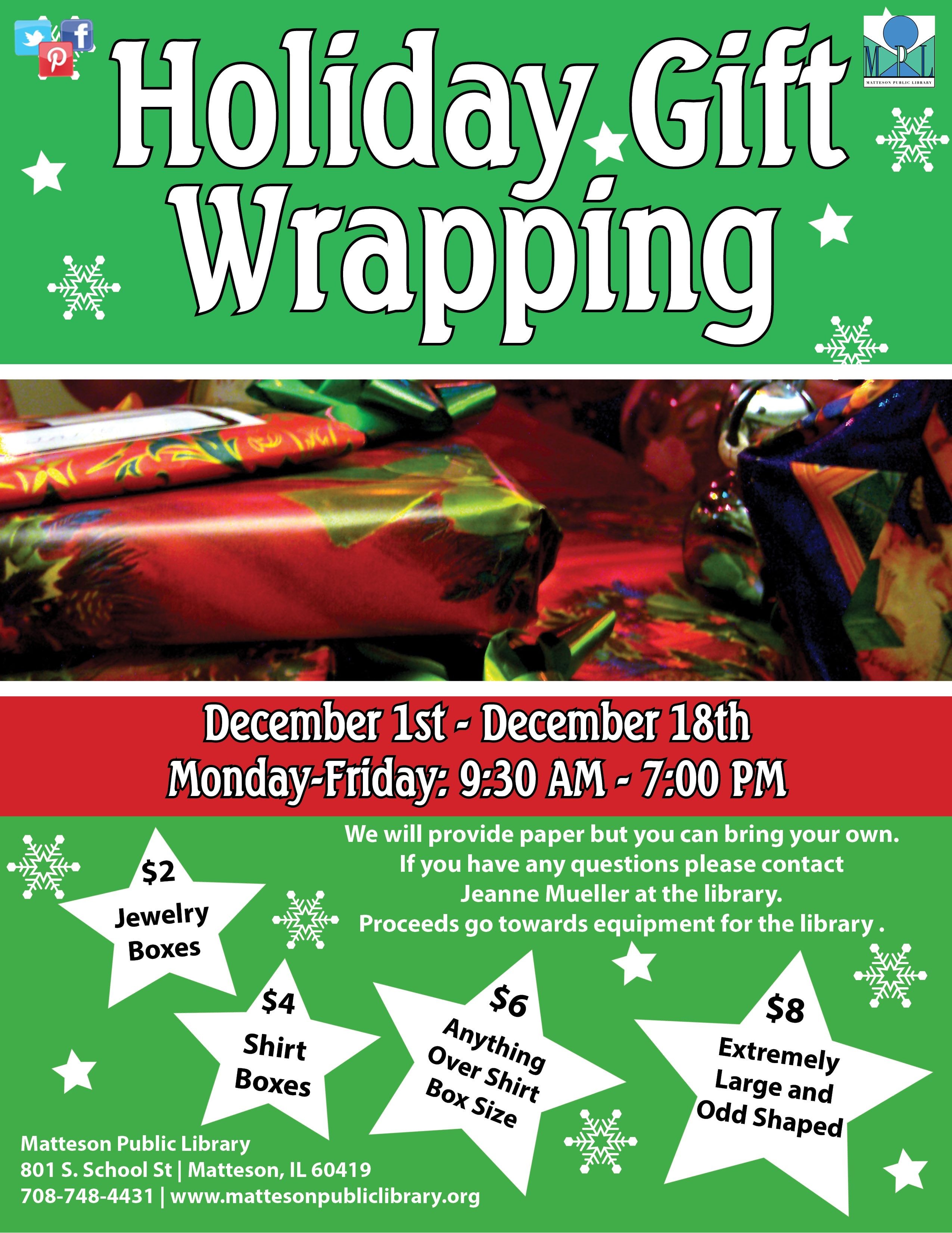 The library is having a Holiday Gift Wrapping Event from ...