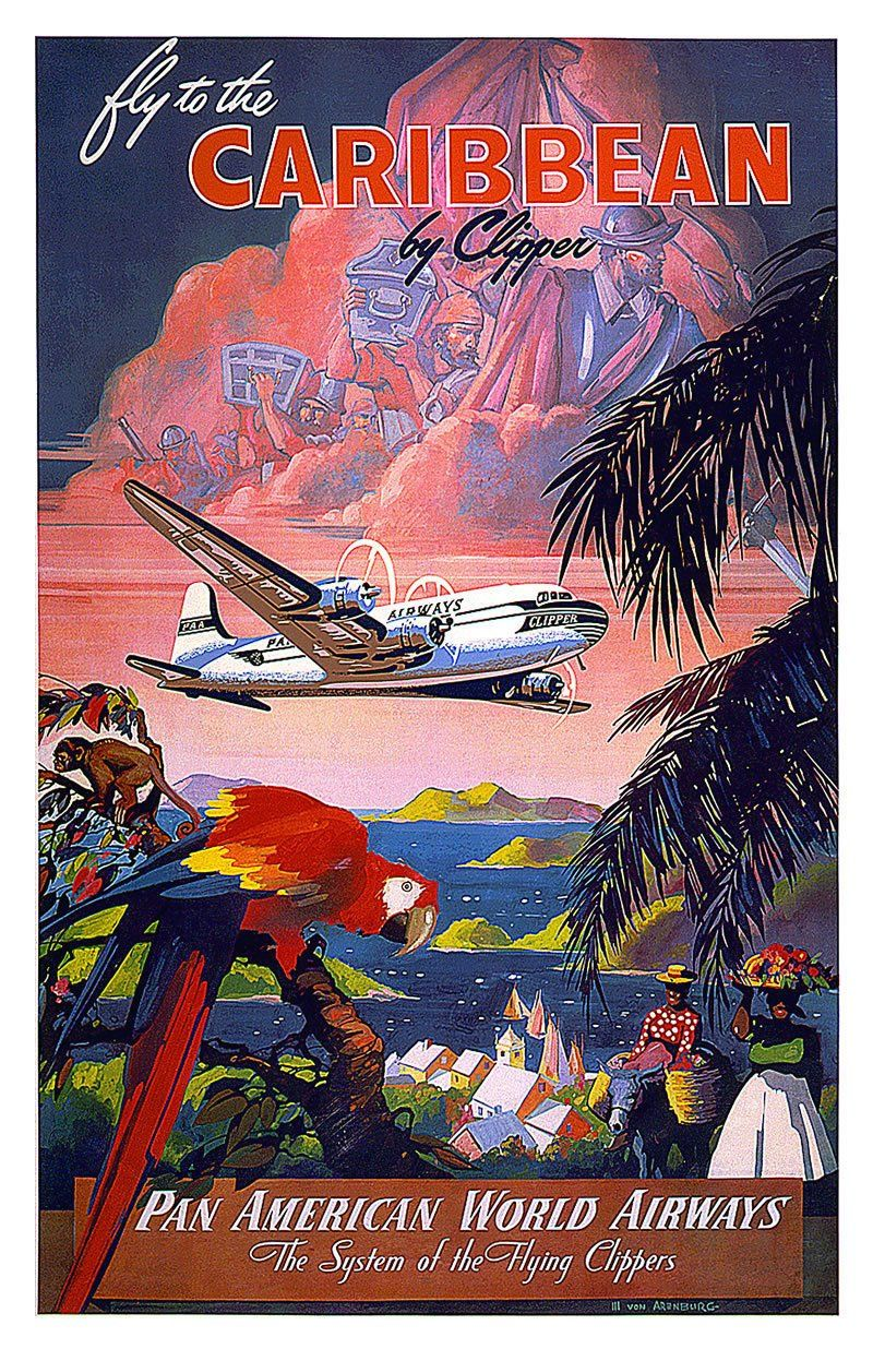Fly to the Caribbean by Clipper - Pan American World Airways