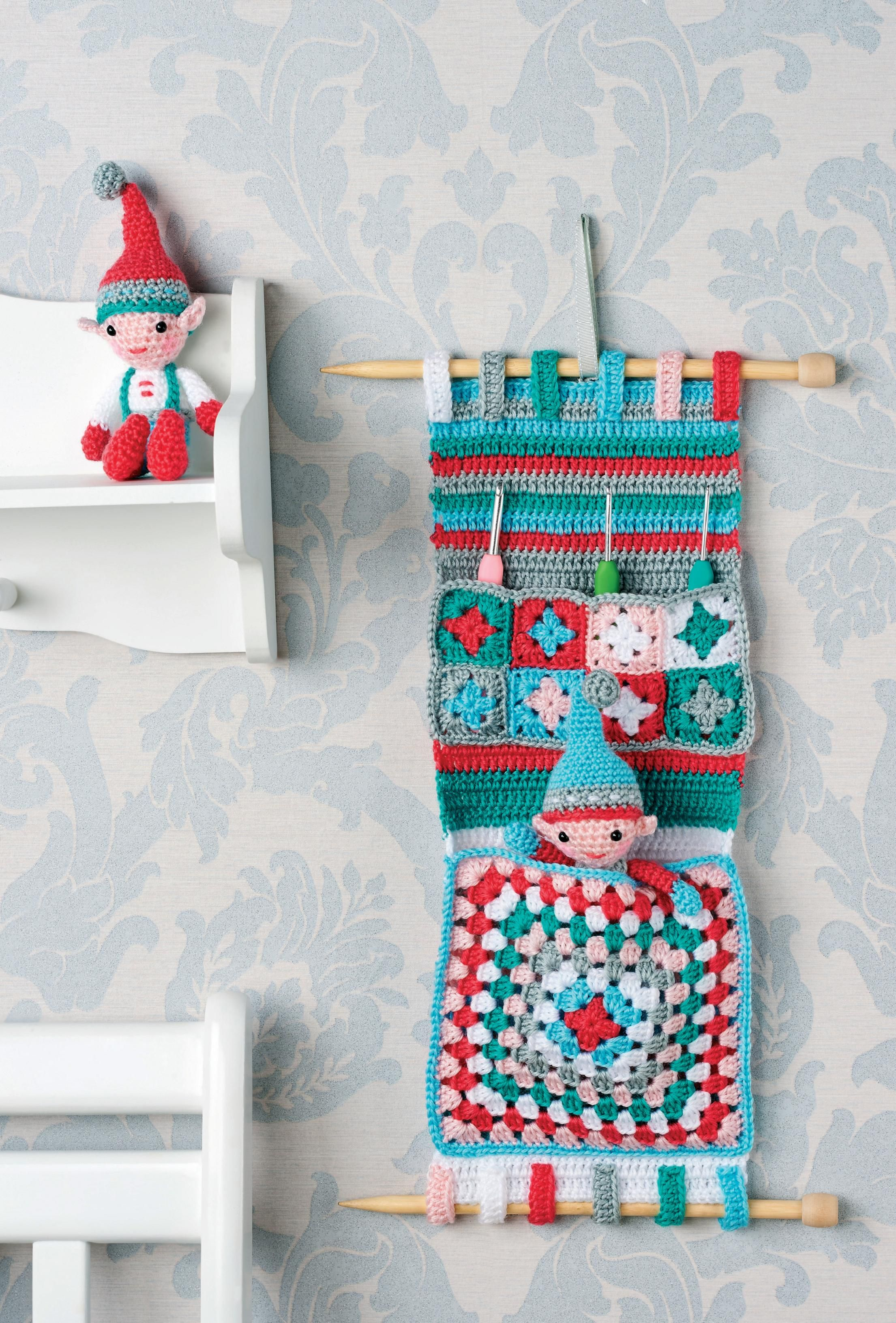 Crochet Hanging Organizer For Baby Room Free Pattern