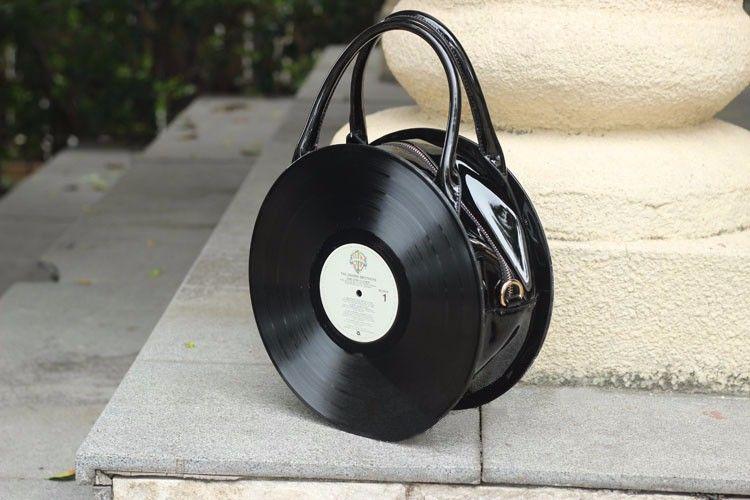 cm Divertida 30 Retro Bolsa de Rock tamanho diâmetro Vinil Disco de 6Swq0dxZd8