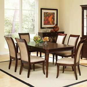799 Picture Of 7 Piece Brown Cherry Dining Set Side Chairs Dining Dining Room Sets Casual Dining Rooms