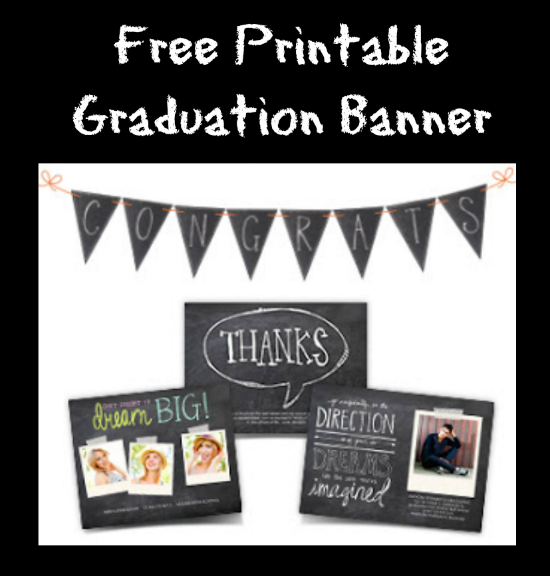 free printable congrats banner to celebrate the graduate