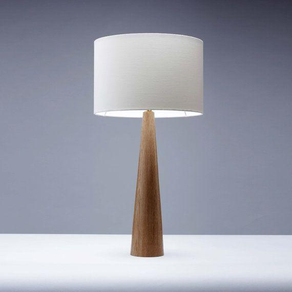 Oak Wood Table Lamp Cone Shape 61cm In 2020 Wooden Lamps Design Wooden Lamp Table Lamp Wood