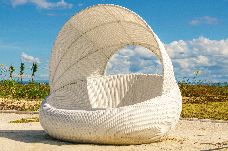 Cordova Day bed in white weave Outdoor furniture in Cebu