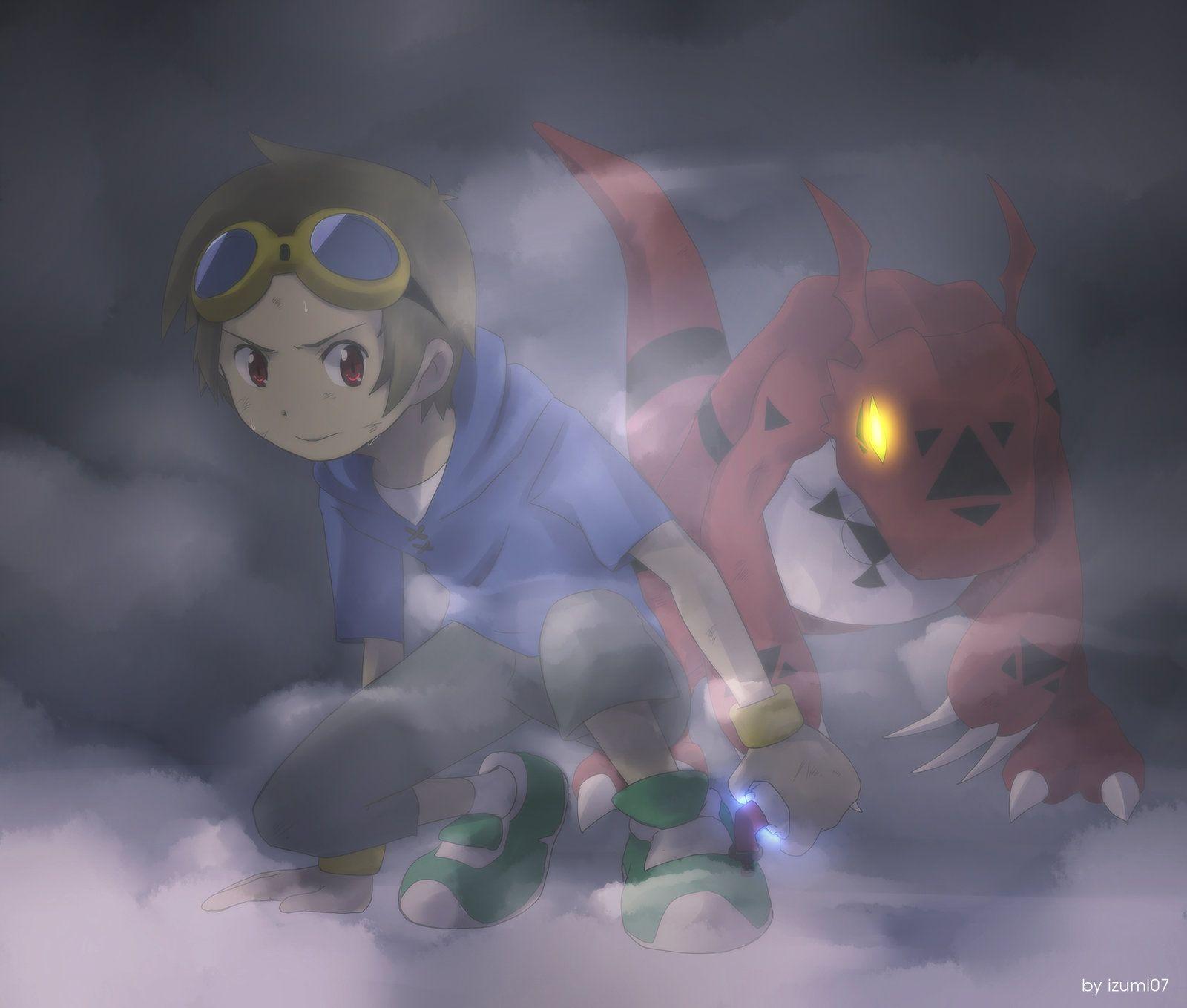 won't be defeated by izumi07.deviantart.com on @deviantART (Takato & Guilmon)