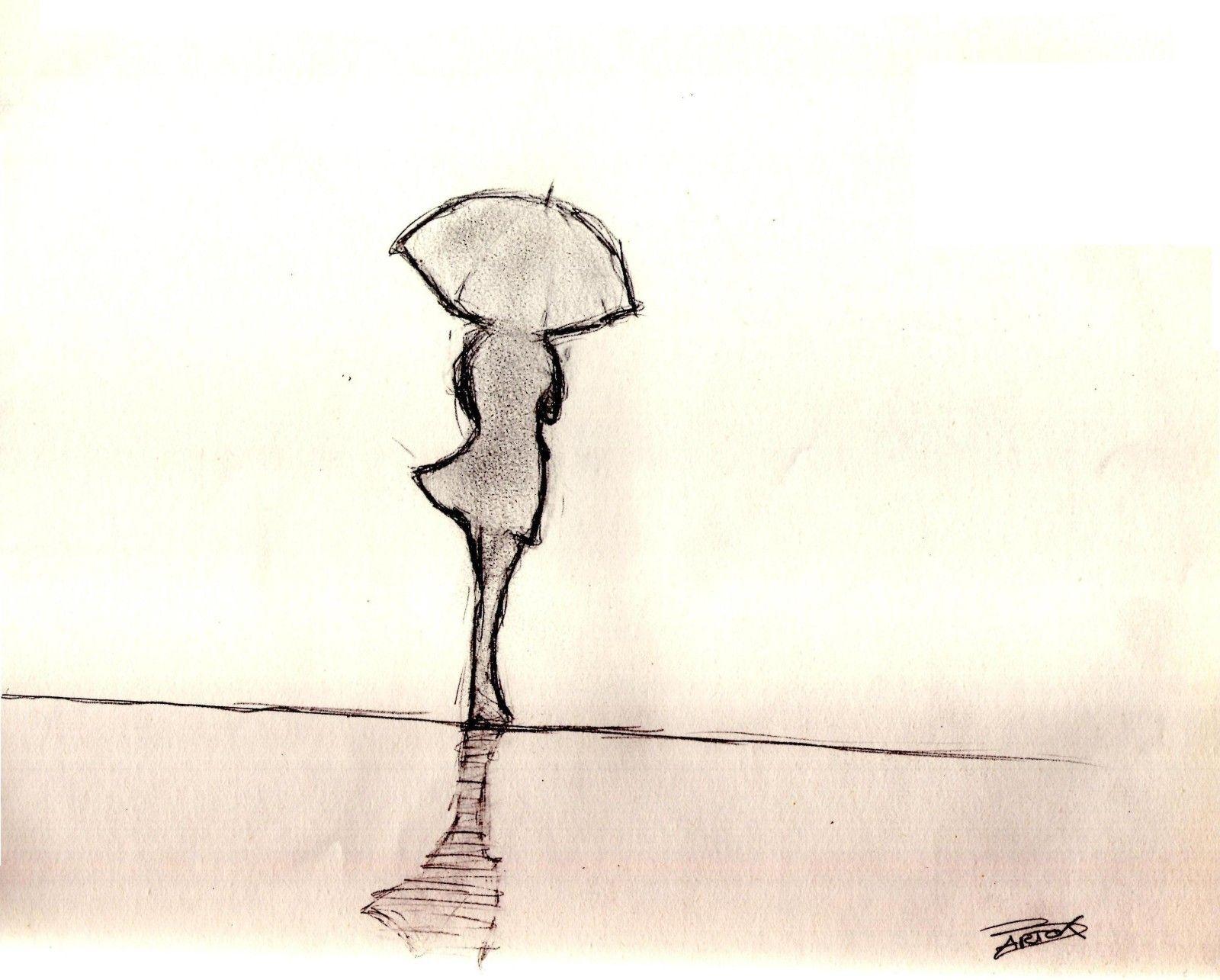 Femme sous la pluie une silhouette de femme portant un parapluie par bartart over blog com