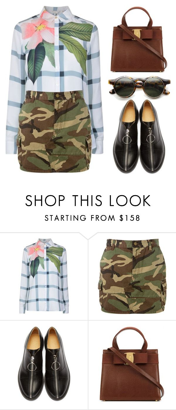 """Pattern Mix"" by ivansyd ❤ liked on Polyvore featuring Ted Baker, Yves Saint Laurent, MM6 Maison Margiela and mixitup"
