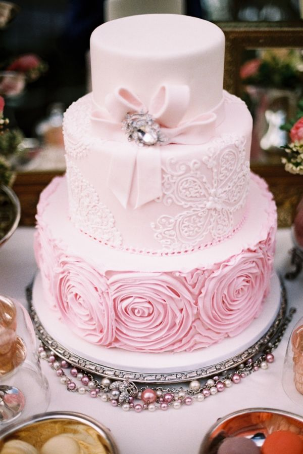 Pale Pink Wedding Cake Cake Pale Pink Weddings Beautiful