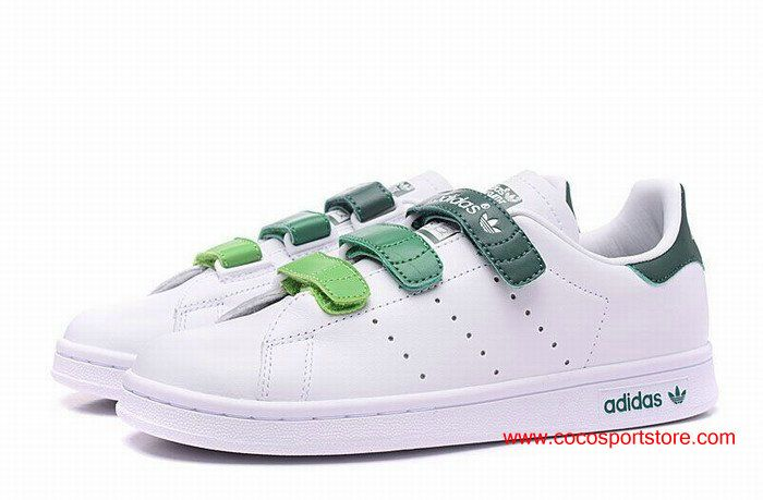 provide womens adidas stan smith leather velcro gradient