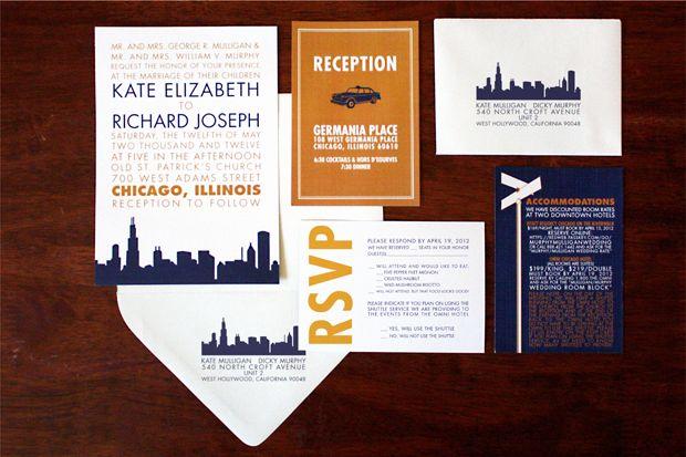 Chicago Themed Wedding Invitations: Wedding Invitations, Wedding