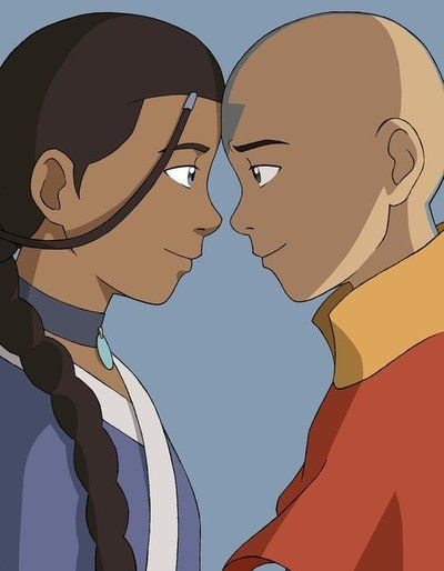 fuckyeahavatarshipping: Aang and Katara by ~BlueDecember89