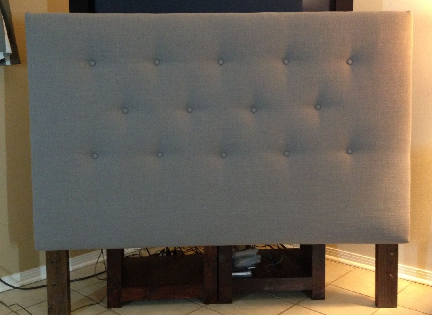 Cal King Gray Headboard Upholstered Unique Designs