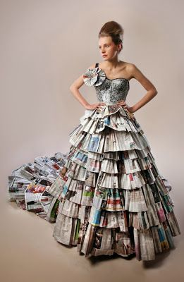 Ecomania Blog Moda Con Papel De Periódico Vestido De