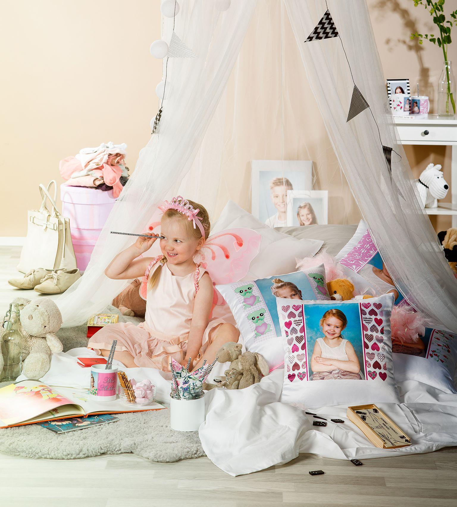 Kesäunelmia | www.kuvaverkko.fi | #tyyny #muki #kuvatuote #valokuva #muotokuva #lapsikuva #päiväkotikuva #koulukuva #rakkaat #pehmeää #omajuttu #leikki #keiju #prinsessa #kuinsadusta #sisustusvinkki #sisustus #kesäunelma