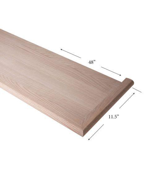 Best 8070 Mr 48 R Mitered Return Stair Tread Solid Wood 640 x 480