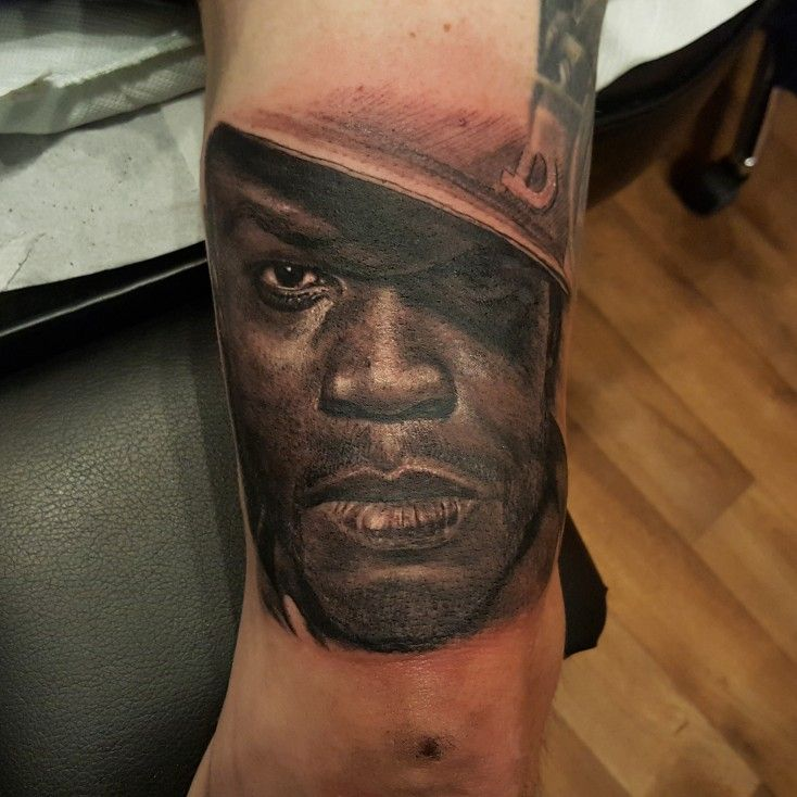 Portrait tattoo of 50 cent I did   Brokenpuppet Tattoos and ...