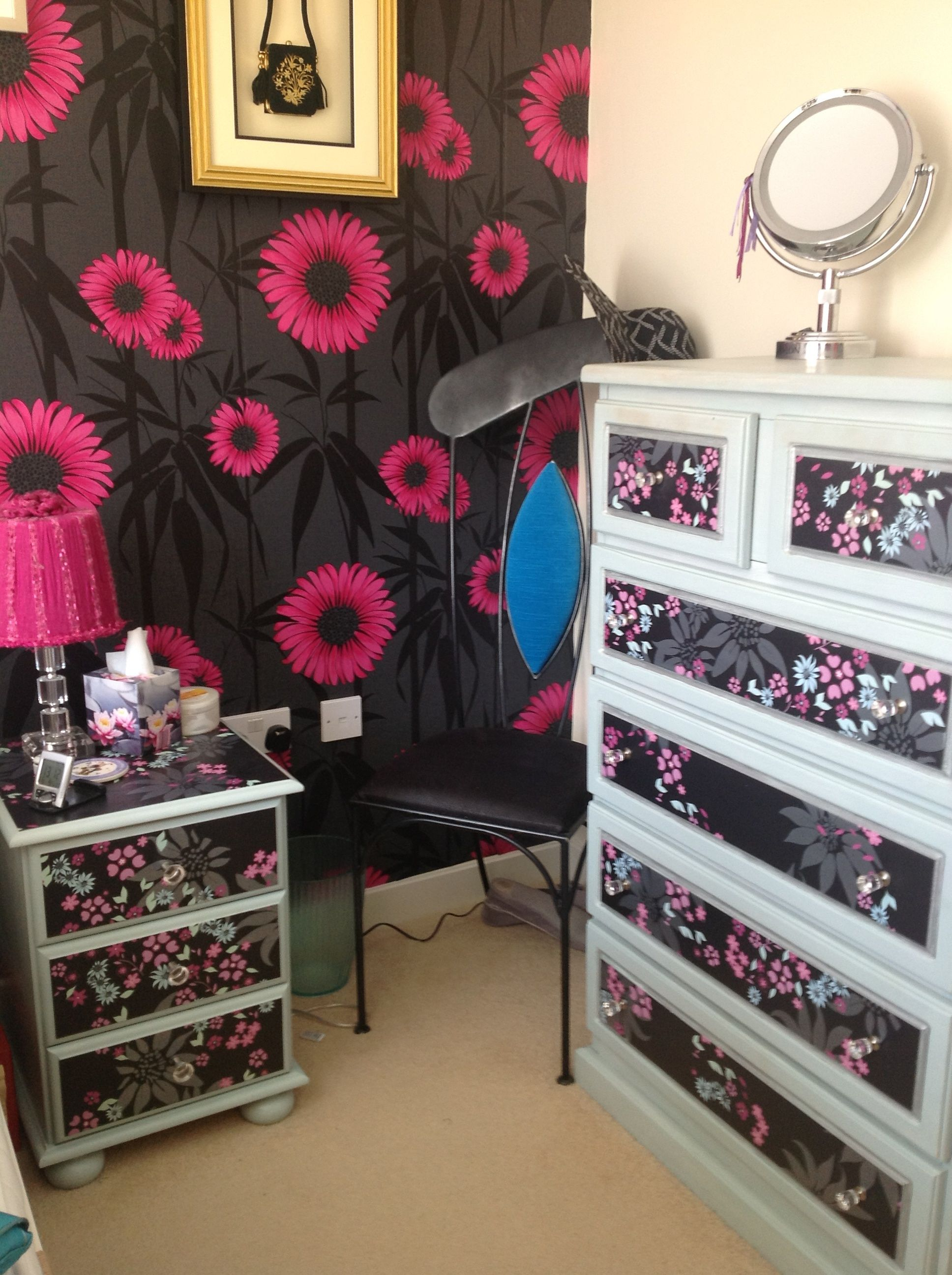 Shabby Chic by Sharon. Chest of Draws and Bedside Table
