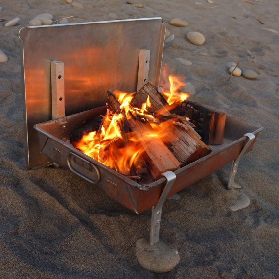 Large Portable Fire Pit : Large wilderness fire pan a complete light weight
