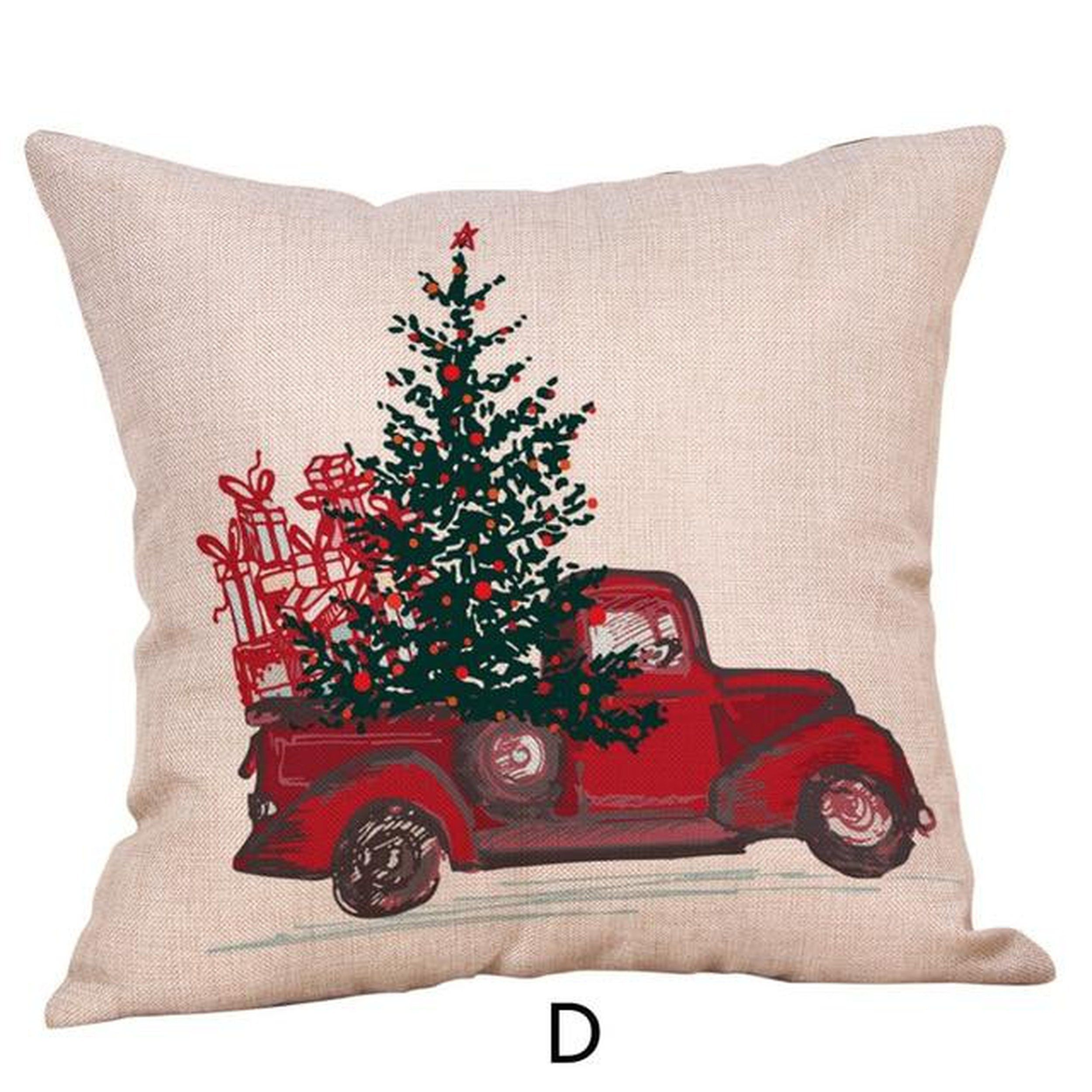 Merry Christmas Throw Pillow Case Vehicle Pillows Cover
