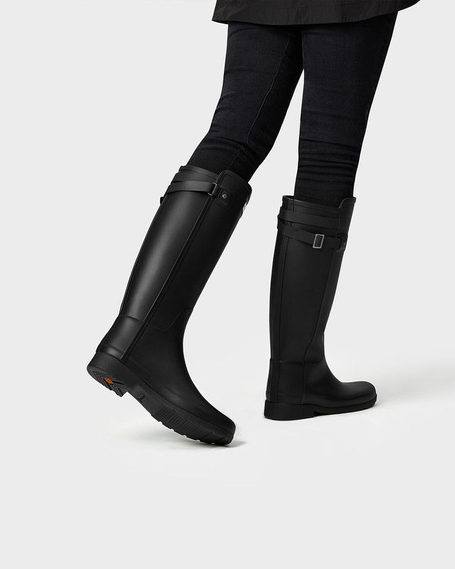 63c3bf2ed Women's refined slim fit back strap rain boots | Wish list | Boots ...