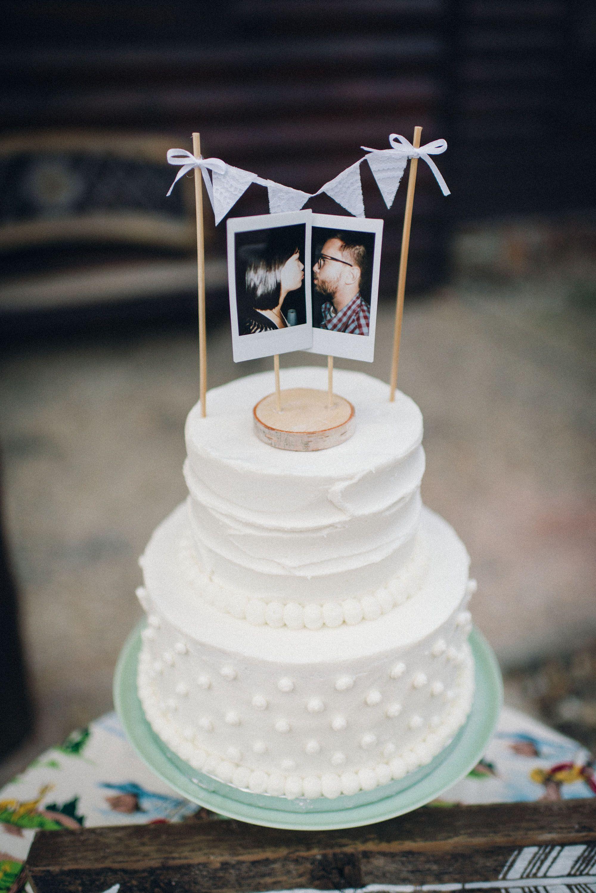Vintage Inspired Polaroid Cake Topper Statt ser doofen