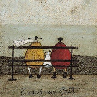 Bums on seat sam toft open greeting card st 322 illustrations bums on seat sam toft open greeting card st 322 m4hsunfo