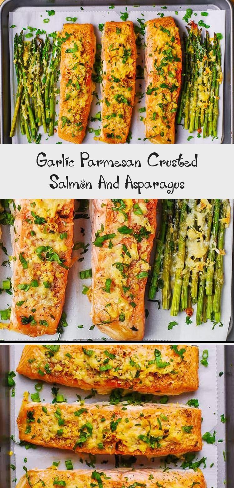 Photo of Garlic Parmesan Crusted Salmon And Asparagus – Healthy Food