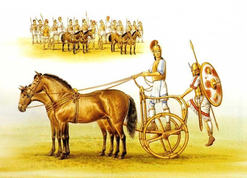 Mycenaean Rail Chariot 1500 B C Art By Brian Delf