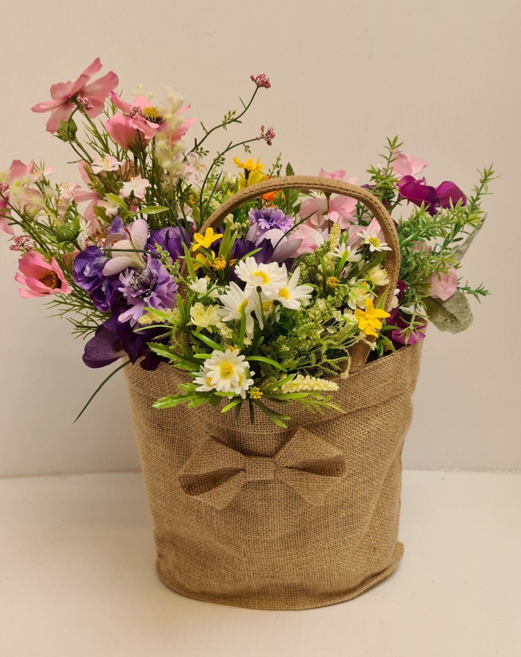 Photo of Jute Flower or Display Bag.