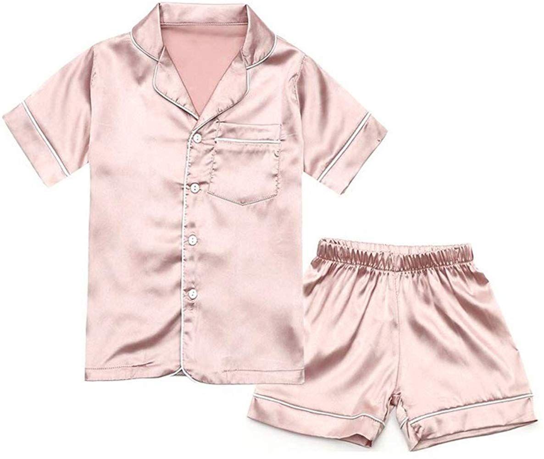 Nine X- Children Satin Pyjama Many Colours Kids PJs Sleepwear