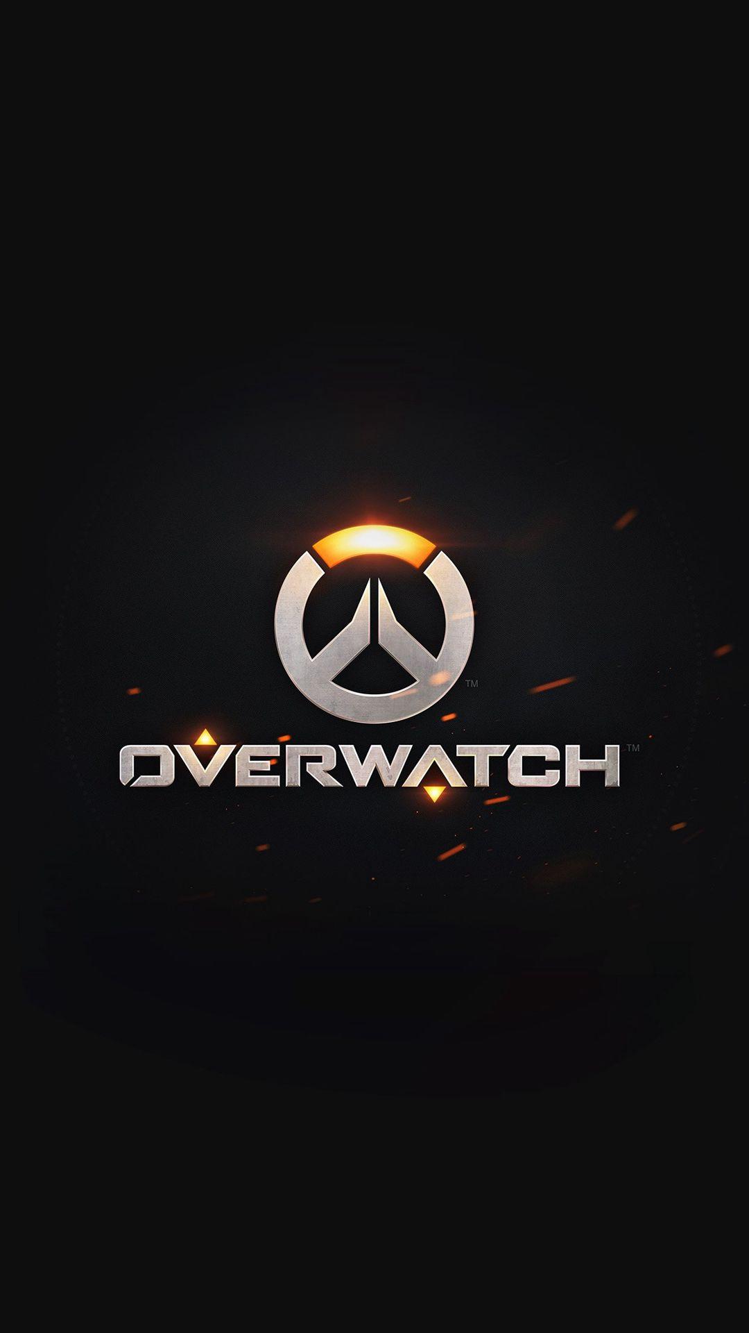 Overwatch Logo Simple Game Art Illustration Dark iPhone
