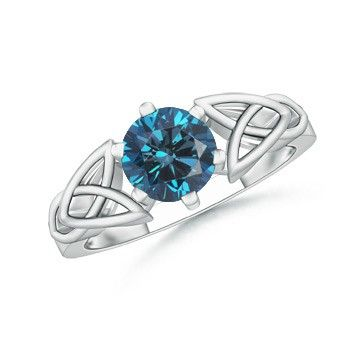 Angara Celtic Knot Moissanite Ring in Platinum XQfbY
