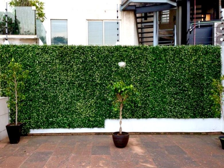 garden fencing solutions with greensmart decor artificial on interior using artificial boxwood panels with flowers id=83047