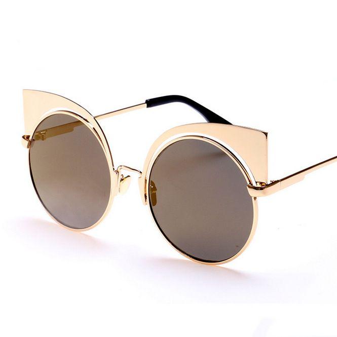 95194f5ee6e43 Aliexpress.com  Acheter 2016 GUVIVI Vintage Femmes Cat Eye lunettes de Soleil  Femmes Miroir