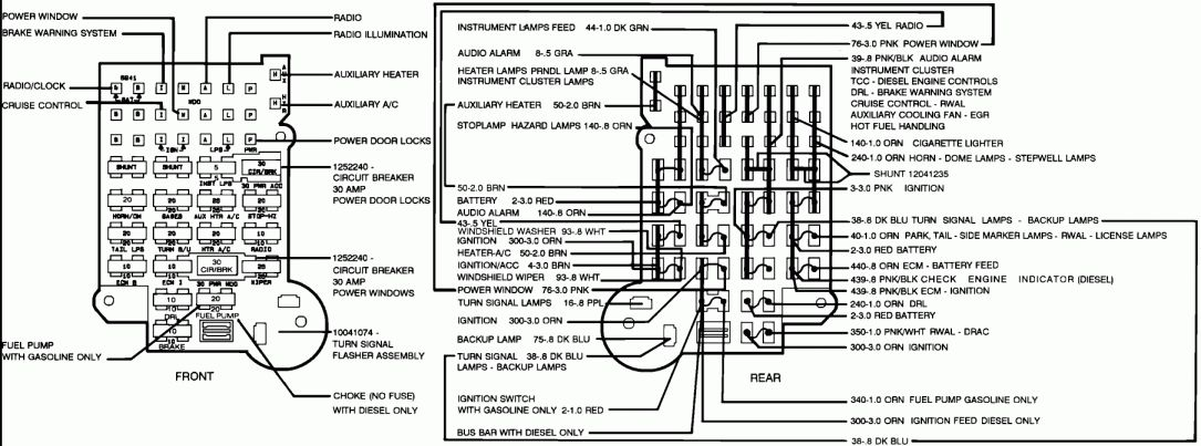1985 Chevy Truck Fuse Box Diagram and Trans Am Fuse Box
