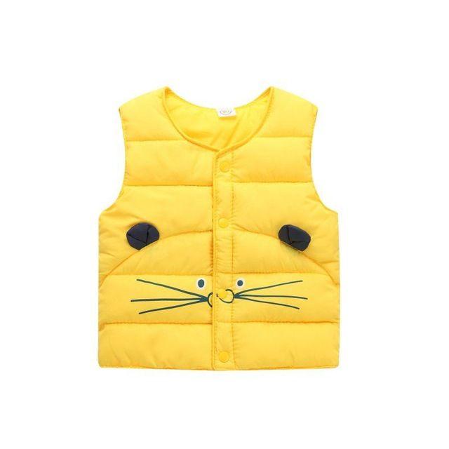 12ad75b39e4f Winter Baby Boys Girls Outerwear Waistcoat Warm Vest Child Down Vest ...