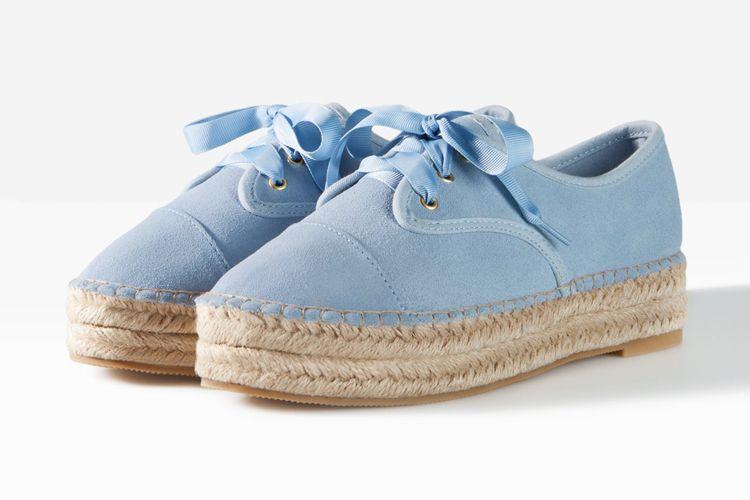 Stradivarius Baby Blue Espadryle Zamszowe Baby Sneakers Sneakers Baby Blue