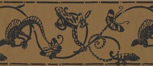 Black Lizard Butterfly on Damask BN1955B Wallpaper Border