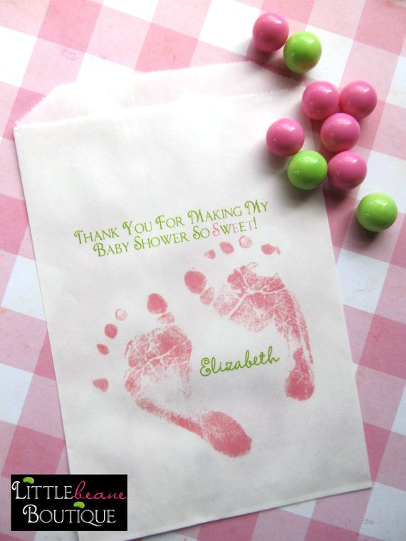 Baby Shower Candy Bags Baby Feet Favor Bags Sweets Treats