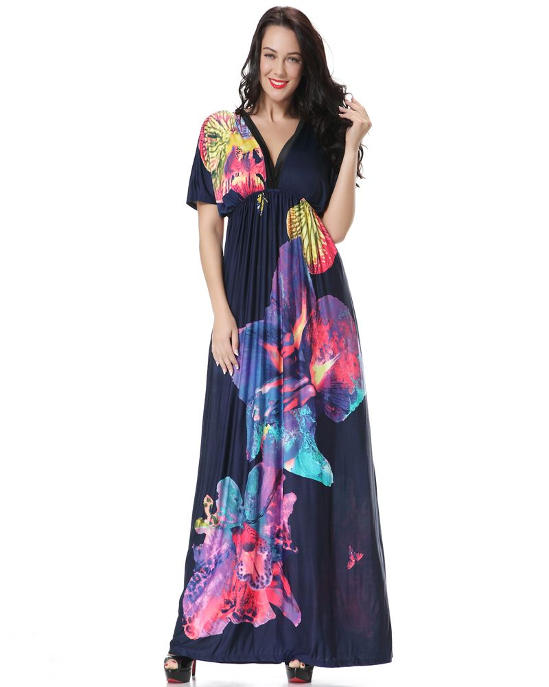 plus size maxi dress in a wonderful soft and flowing material