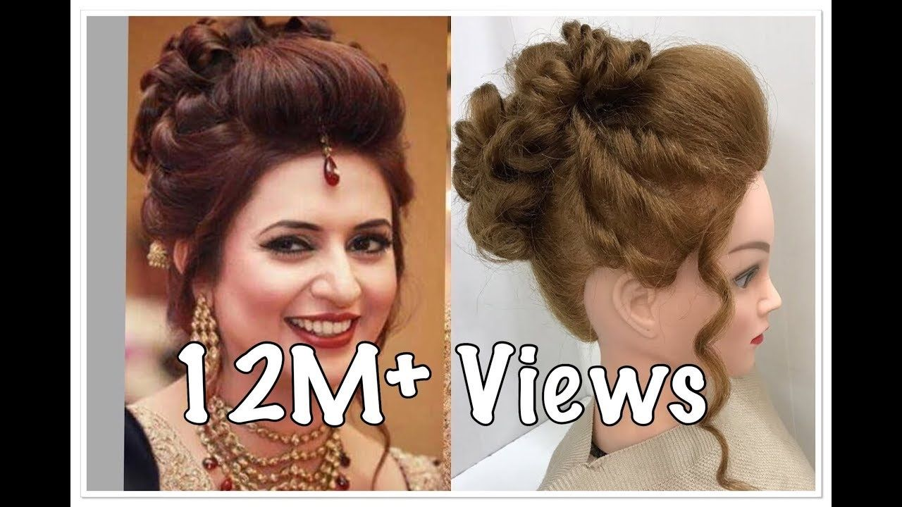 3 Beautiful Hairstyles With Puff Easy Wedding Hairstyles Wedding Epic Hair Styles Long Hair Styles Simple Wedding Hairstyles