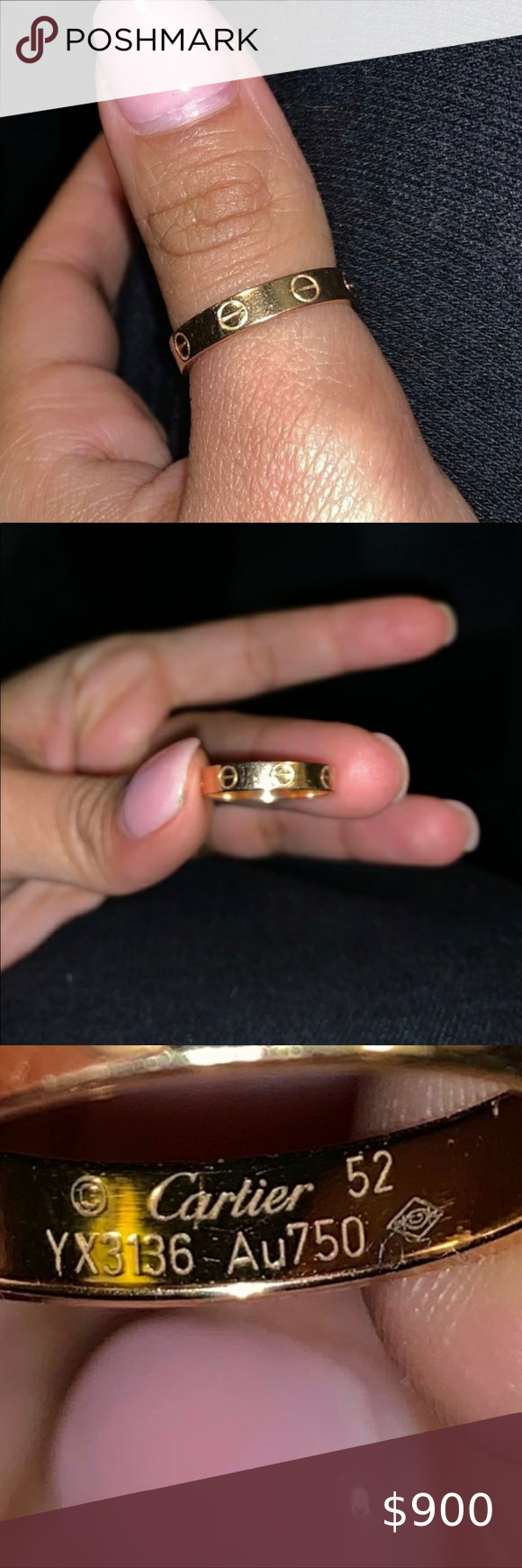 AUTHENTIC Cartier Love Ring/Wedding Band Size 6 8K Yellow