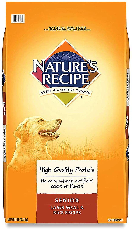 Nature S Recipe Senior Dog Food Senior Dog Food Recipes Dog Food Reviews Best Senior Dog Food