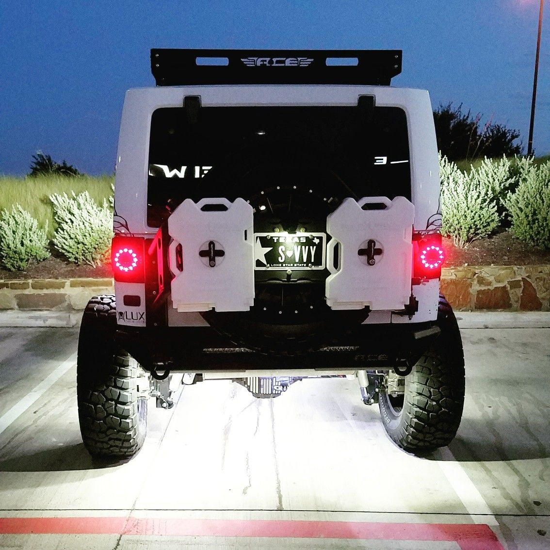 Round Jeep Wrangler Led Litedot Tail Lights By Offroad