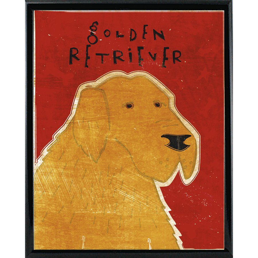 Golden Retriever Graphic Art Print Golden Retriever Art Dog Art Stretched Canvas Prints
